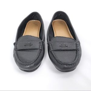 Coach leather loafers flats